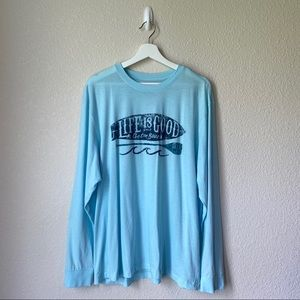 Life Is Good Blue Lightweight Long-sleeve Top